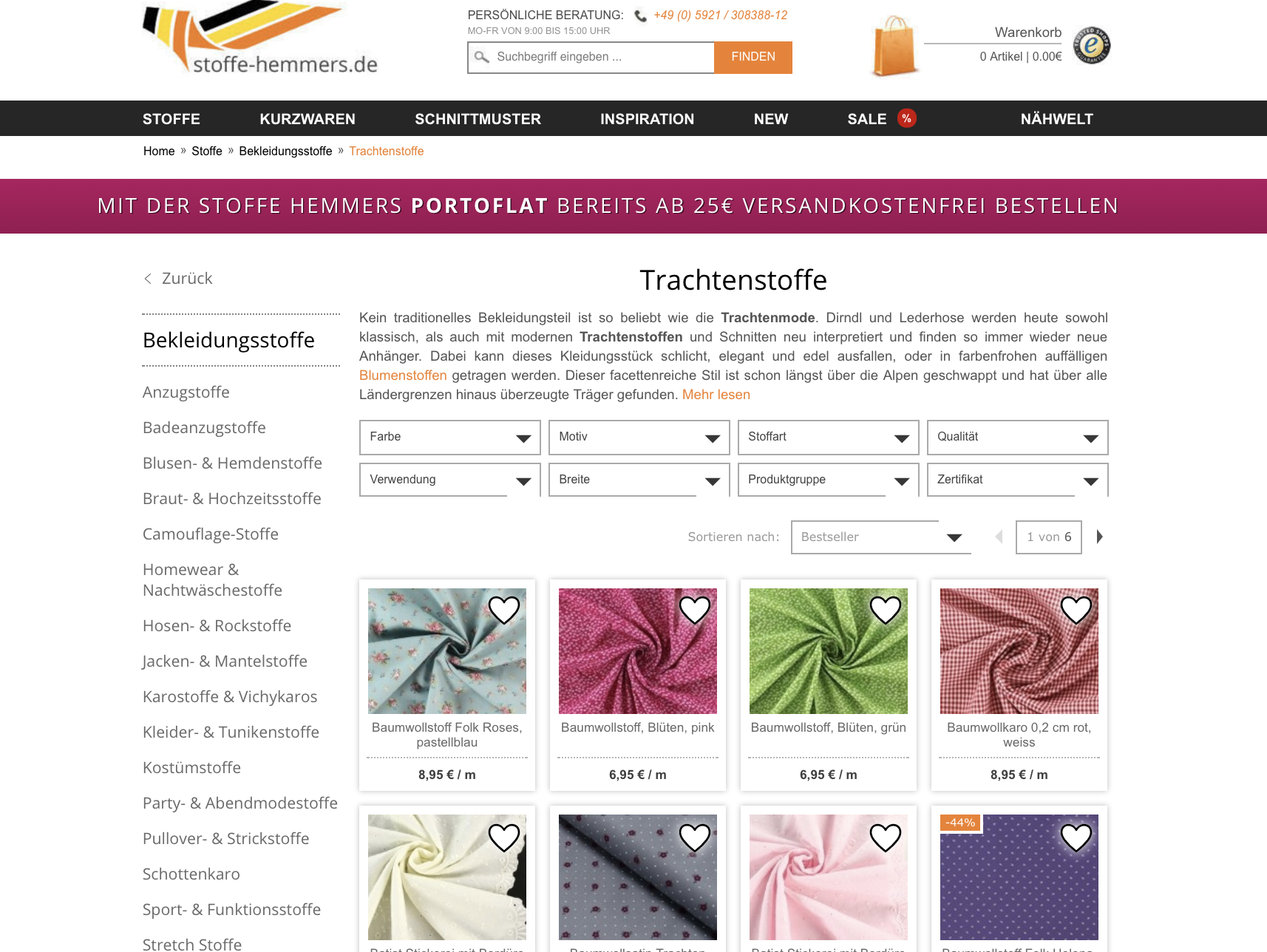 trachtenstoffe online kaufen bersicht online shops. Black Bedroom Furniture Sets. Home Design Ideas
