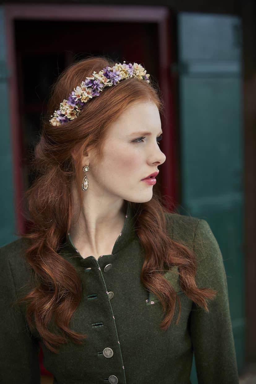 Tracht Haarschmuck Blumenkranz von Schönes Fräulein