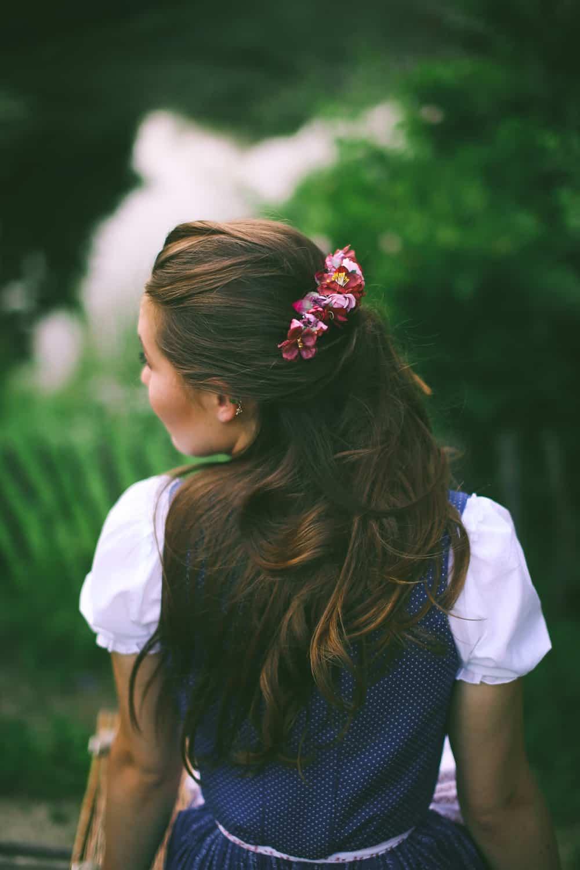 Tracht Haarschmuck Blumenkamm von We are Flowergirls