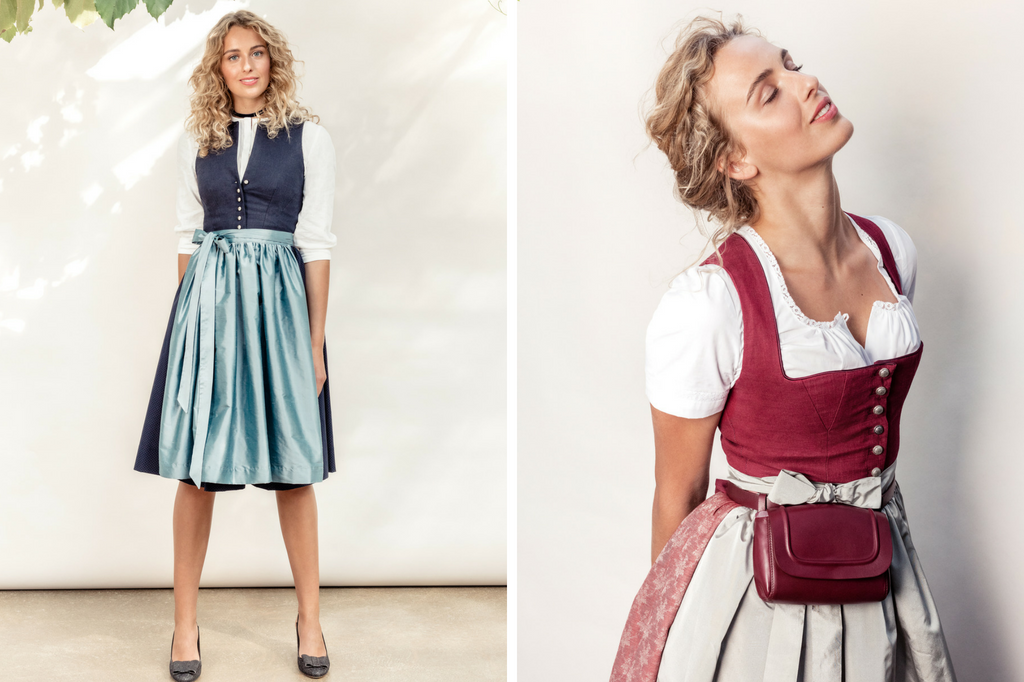 Clara Dorothea Dirndl in blau und rot