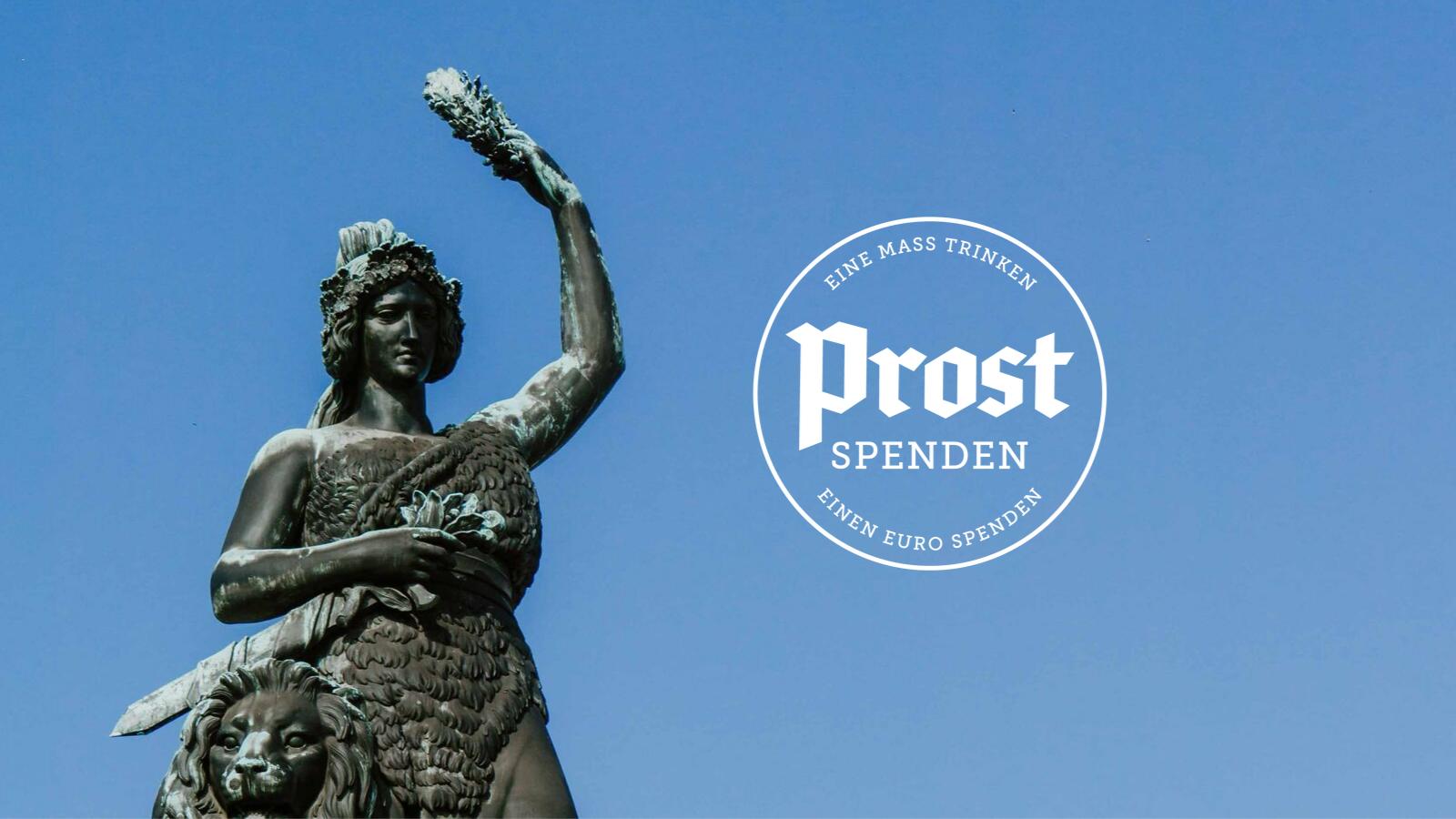 Bavaria mit Prost Spenden Logo