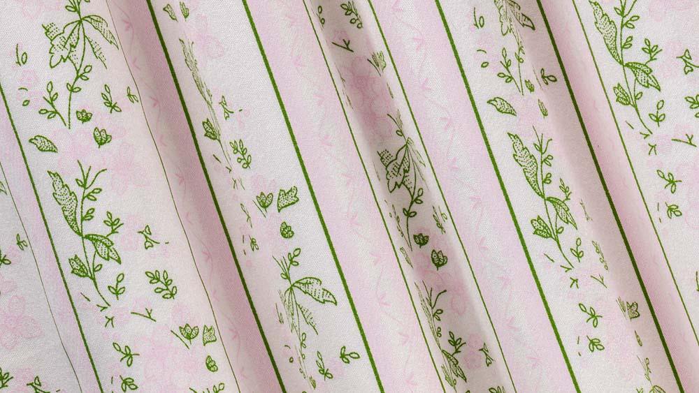 Dirndlmacherei Austria Dirndlstoff rosa gruen